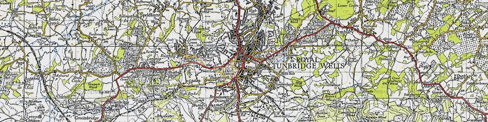 Old map of Tunbridge Wells in 1946