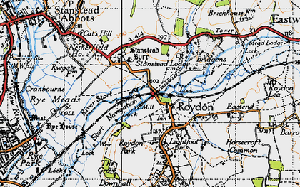 Old map of Lightfoots in 1946