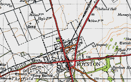 Old map of Royston in 1946