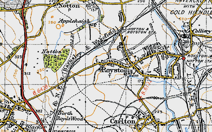 Old map of Royston in 1947