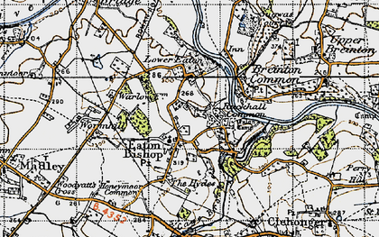 Old map of Wormhill in 1947