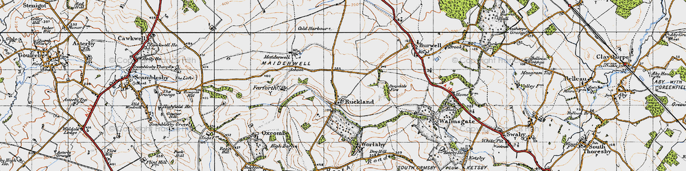 Old map of Woody's Top in 1946