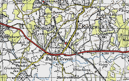 Old map of Rudgwick in 1940