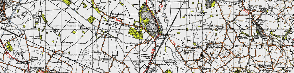 Old map of White Br in 1947