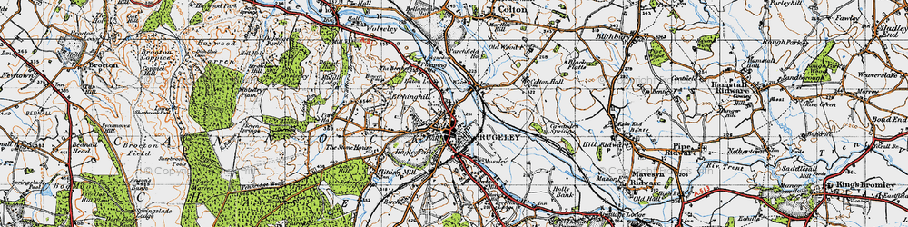Old map of Rugeley in 1946