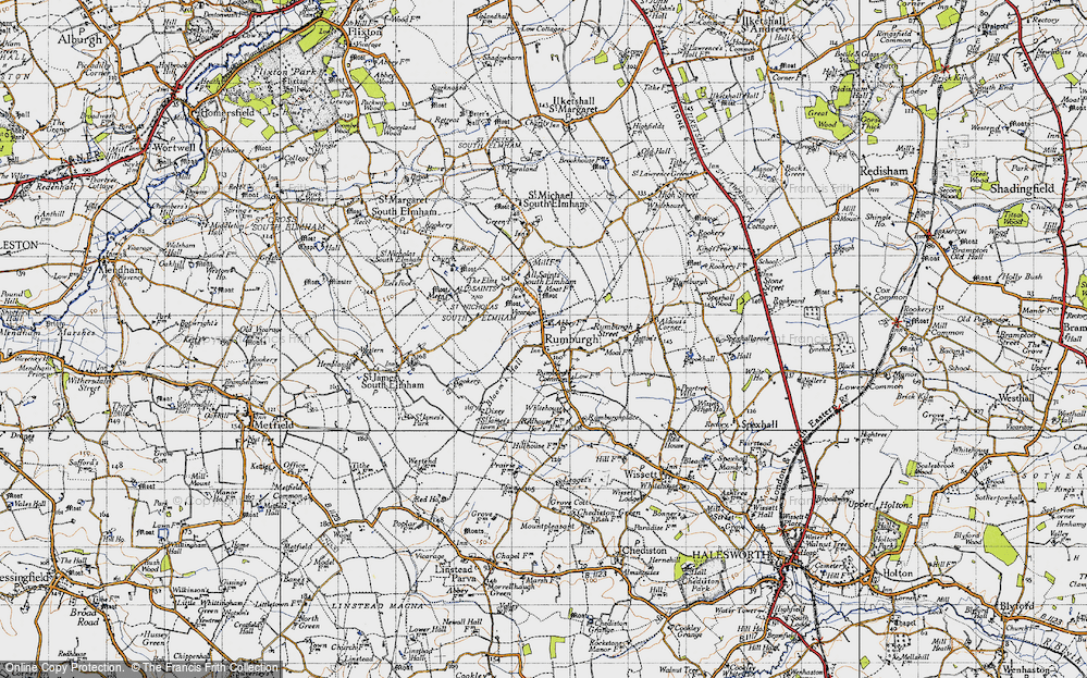 Old Map of Rumburgh, 1946 in 1946