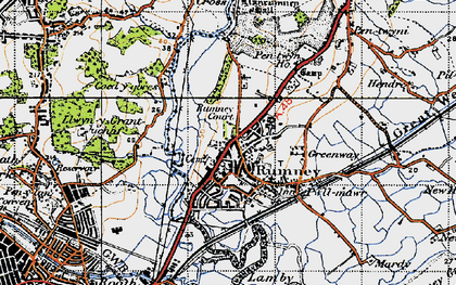Old map of Rumney in 1947