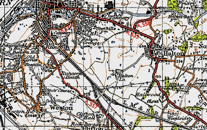 Old map of Runcorn in 1947