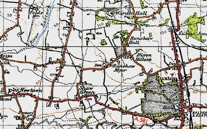 Old map of Worden Park in 1947