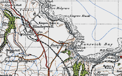 Old map of Runswick Bay in 1947