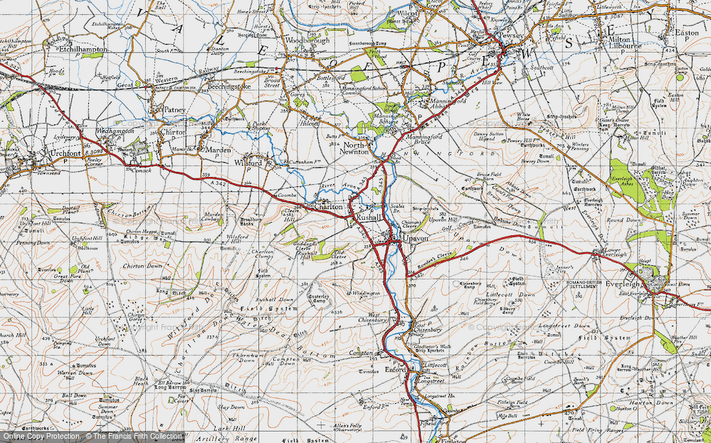 Old Map of Rushall, 1940 in 1940
