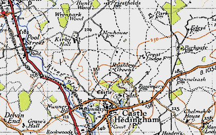 Old map of Wrenpark Wood in 1946
