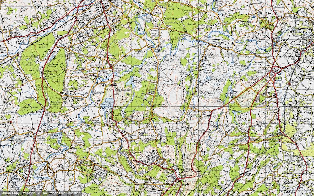Old Map of Rushmoor, 1940 in 1940