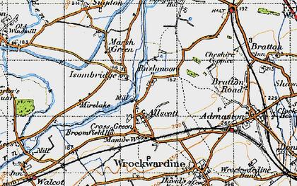 Old map of Rushmoor in 1947