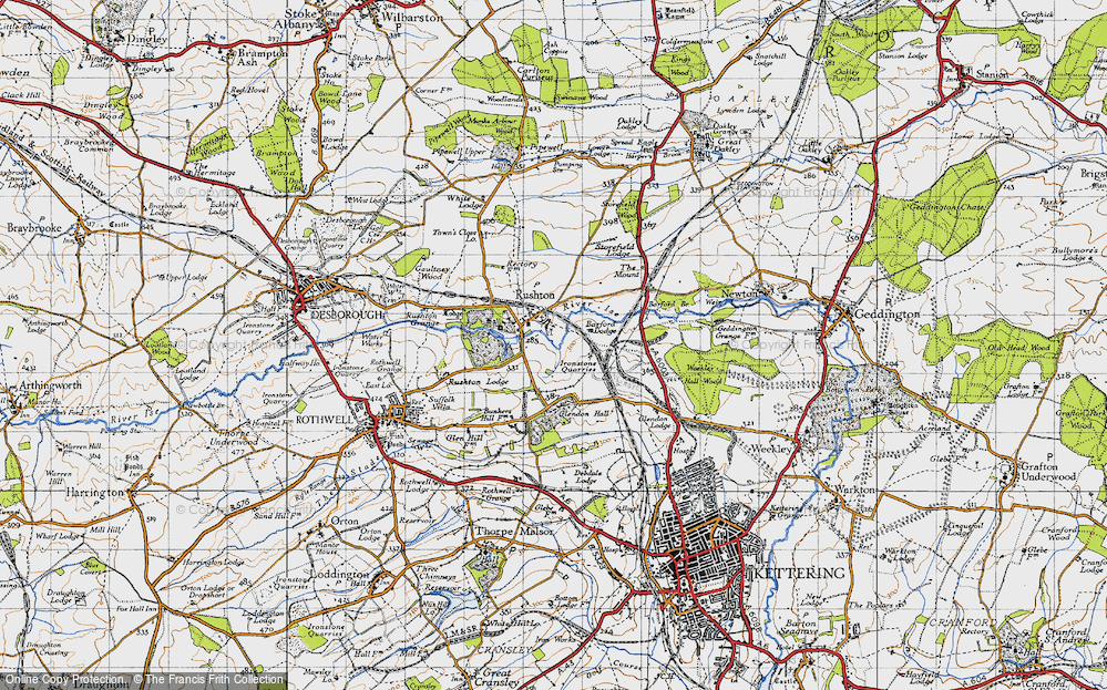 Old Map of Historic Map covering Barford Br in 1946