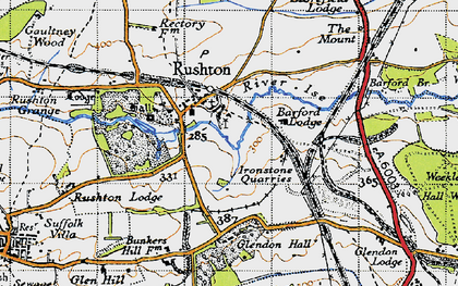 Old map of Barford Br in 1946