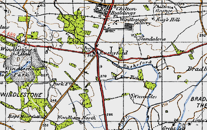 Old map of Rushyford in 1947