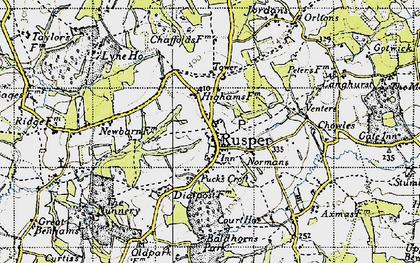 Old map of Rusper in 1940