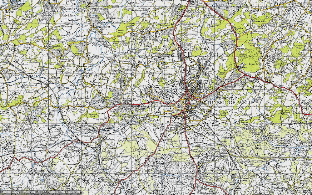 Old Map of Historic Map covering Toad Rock in 1946