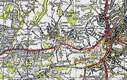 Old map of Rusthall in 1946