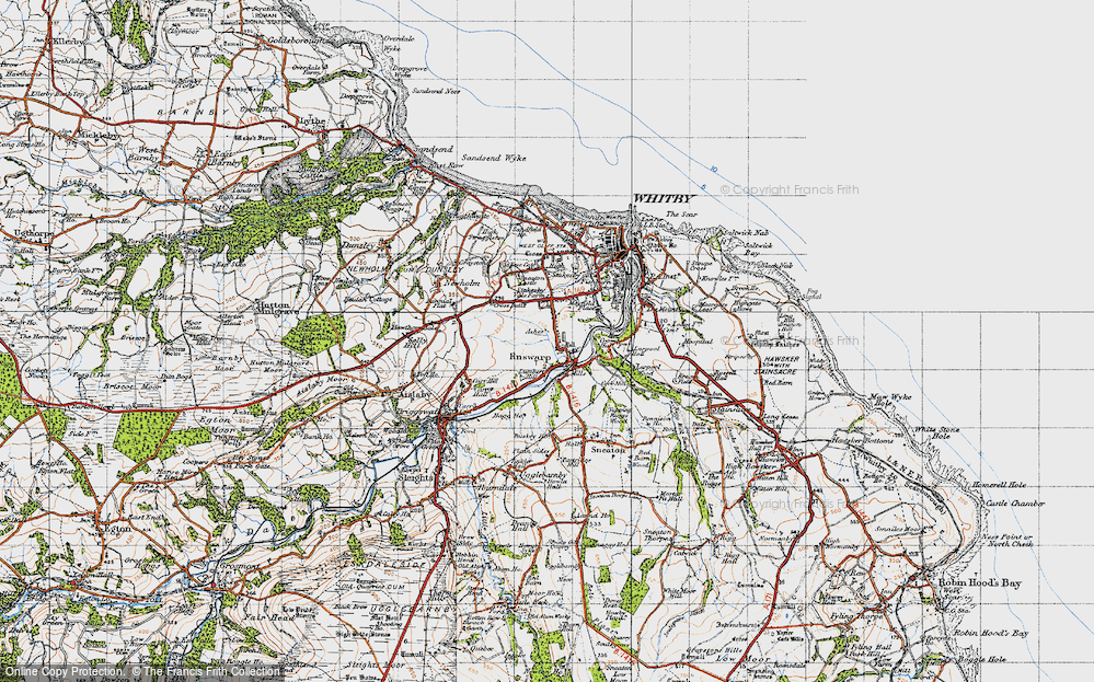 Old Map of Ruswarp, 1947 in 1947