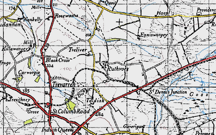 Old map of Ruthvoes in 1946