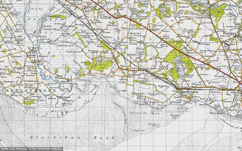Old Map of Historic Map covering Thwaite in 1947