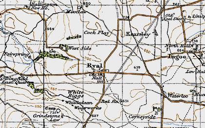 Old map of Whittington White Ho in 1947