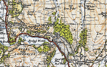 Old map of White Howe in 1947