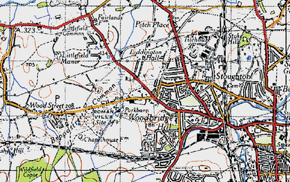 Old map of Rydeshill in 1940
