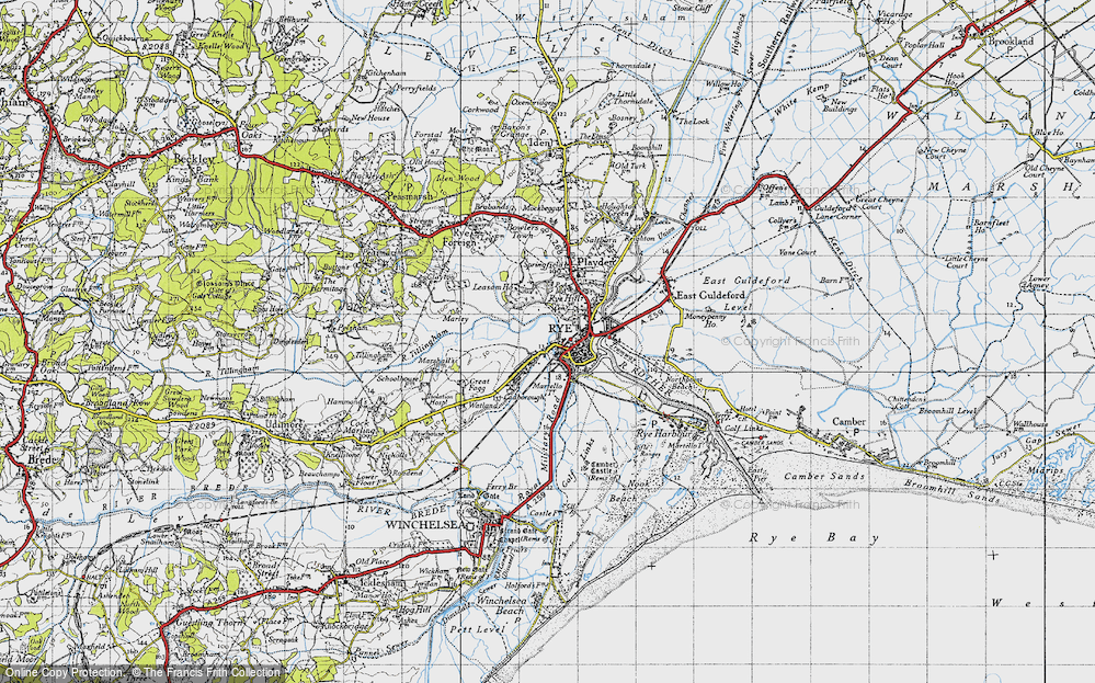 Old Map of Rye, 1940 in 1940
