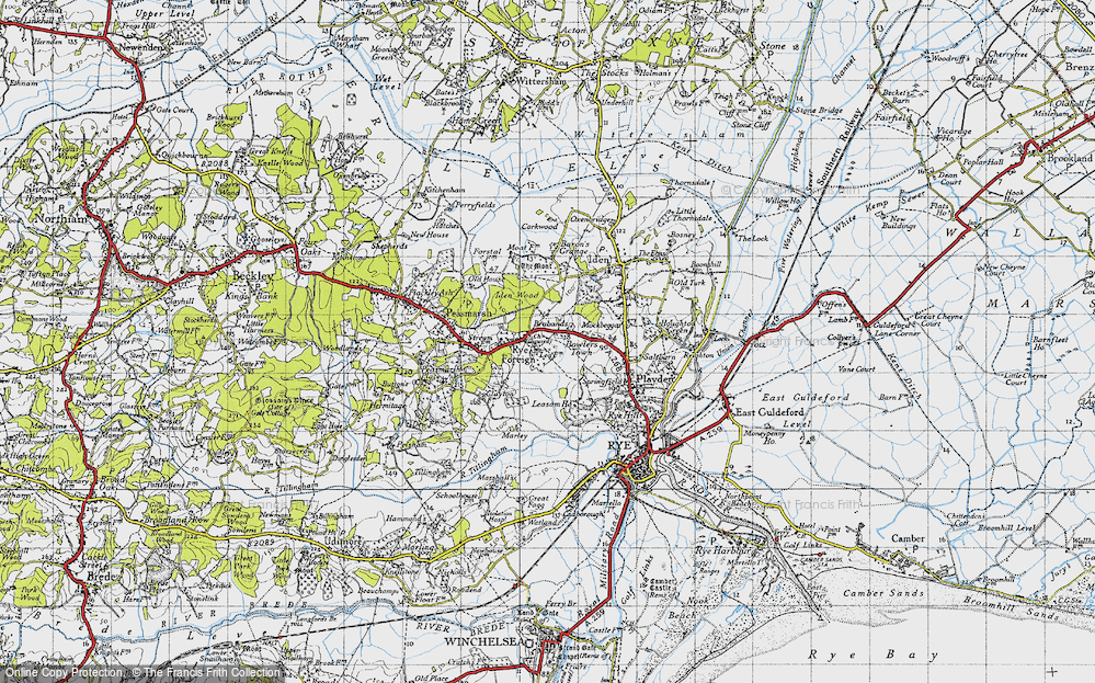 Old Map of Historic Map covering Leasam Ho in 1940