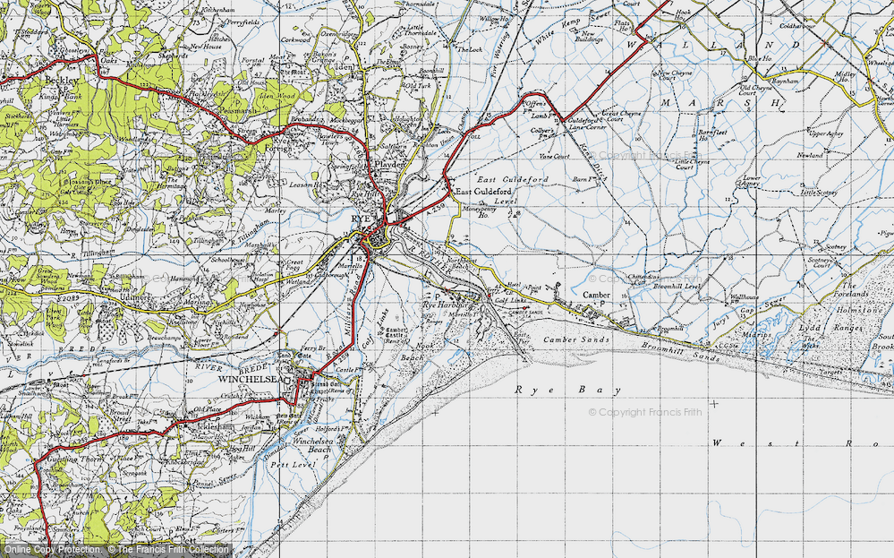 Old Map of Rye Harbour, 1940 in 1940