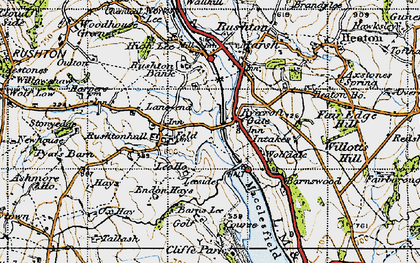 Old map of Leeside in 1947