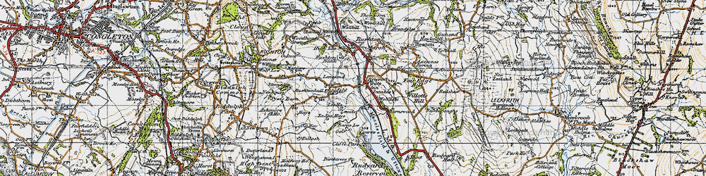 Old map of Wolf-Dale in 1947