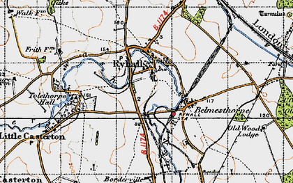 Old map of Tolethorpe Hall in 1946
