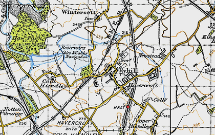 Old map of Ryhill in 1947
