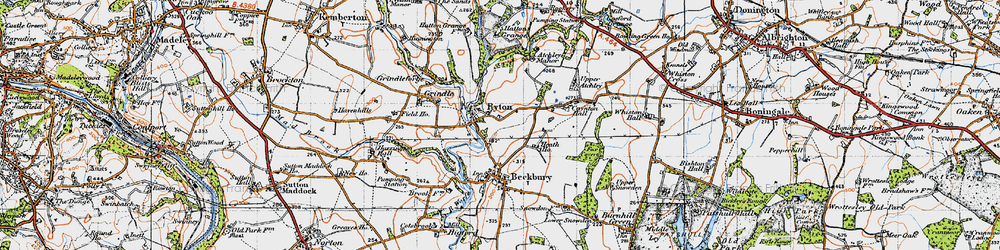 Old map of Ryton in 1946