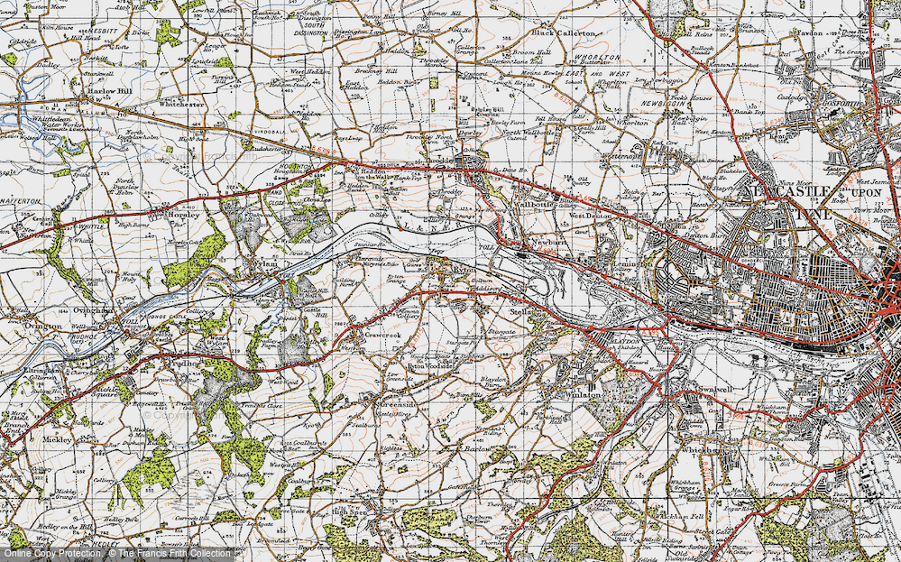 Old Map of Ryton, 1947 in 1947