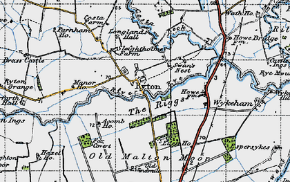 Old map of Acomb Ho in 1947