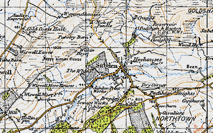 Old map of Sabden in 1947