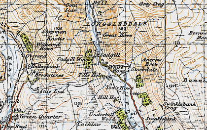 Old map of Bannisdale Fell in 1947