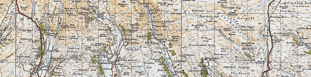 Old map of Whirl Howe in 1947