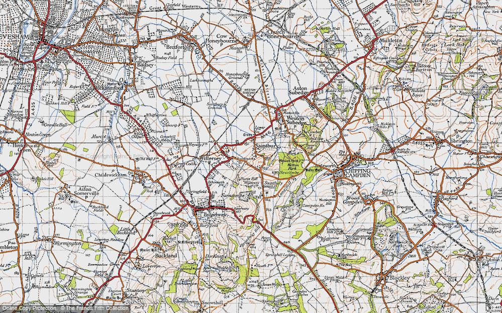 Old Map of Saintbury, 1946 in 1946