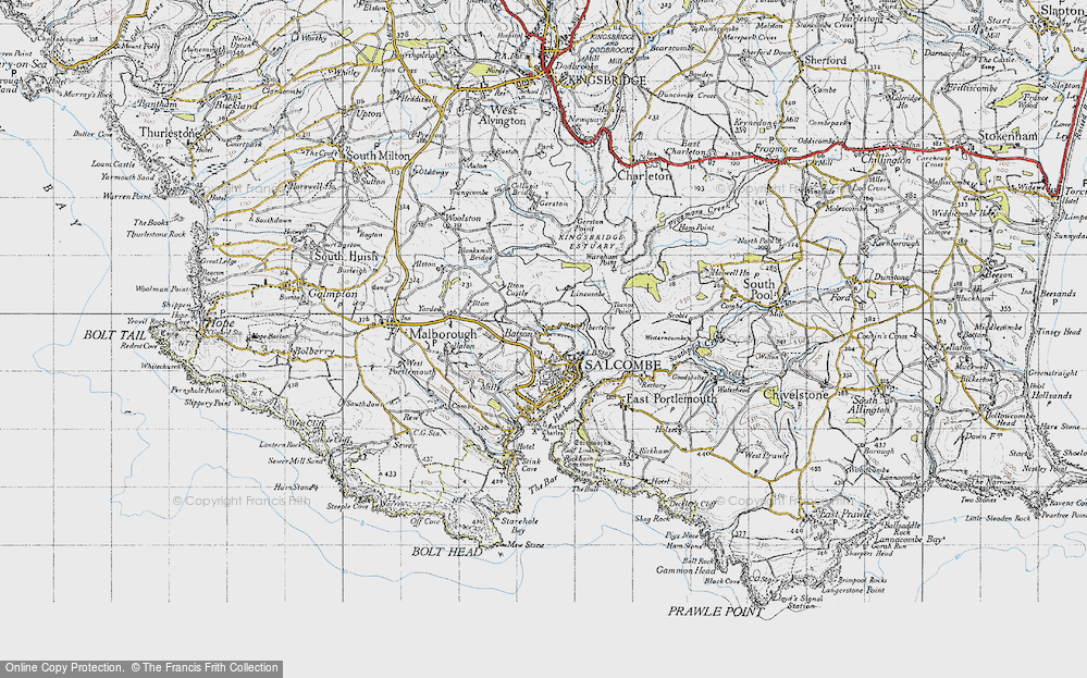 Old Map of Salcombe, 1946 in 1946