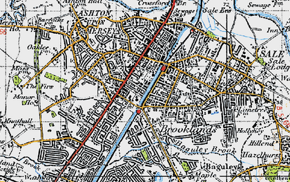 Old map of Sale in 1947