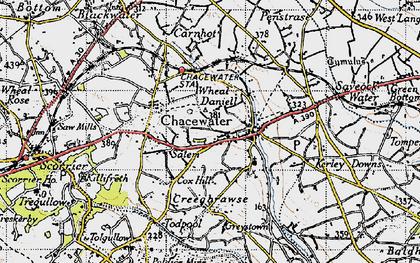 Old map of Salem in 1946