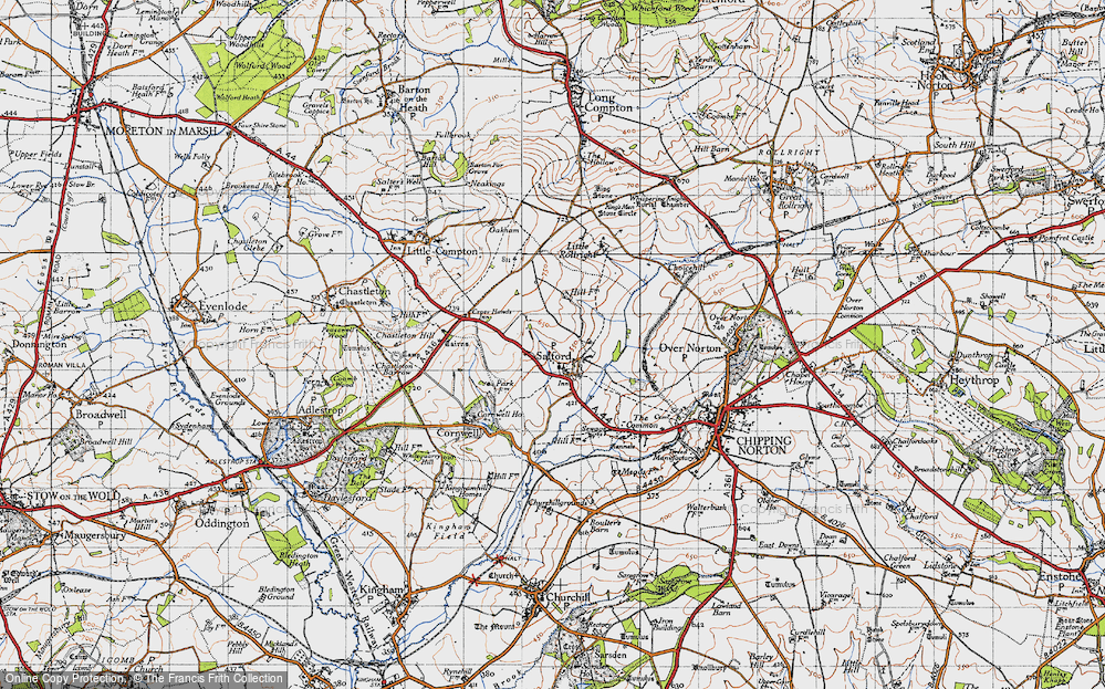 Old Map of Salford, 1946 in 1946
