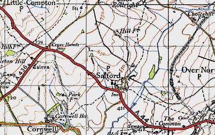 Old map of Salford in 1946