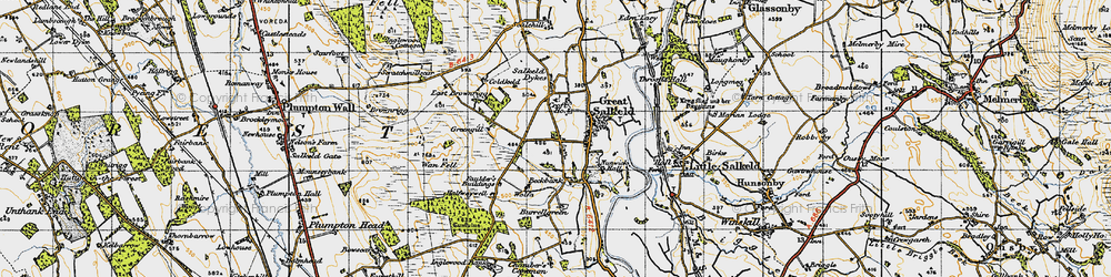 Old map of Wolfa in 1947